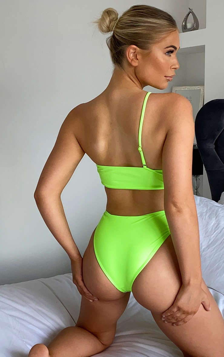 Lime Minimal Ring Cut Out Swimsuit 2