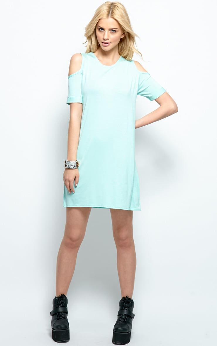 Mahlee Mint Cut Out Shoulder Top 3