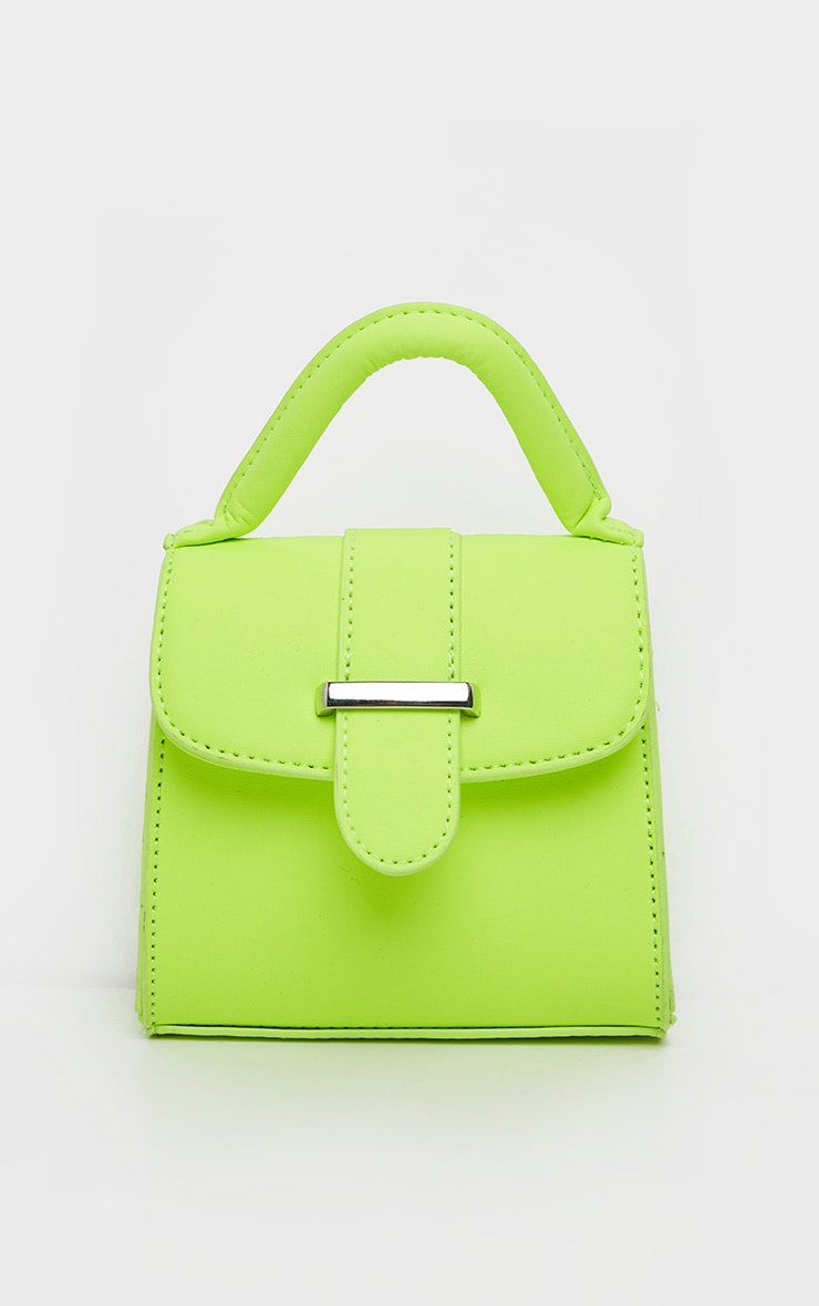 Neon Lime One Handle Mini Grab Bag 3