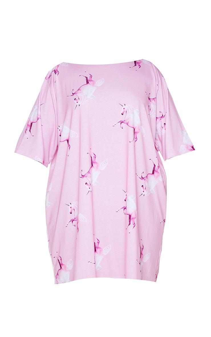 Plus PRETTYLITTLETHING Pink Unicorn Nightie 5