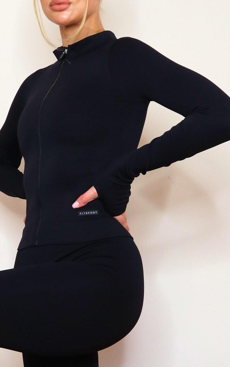 PRETTYLITTLETHING - Veste côtelée noire détail sans coutures 4