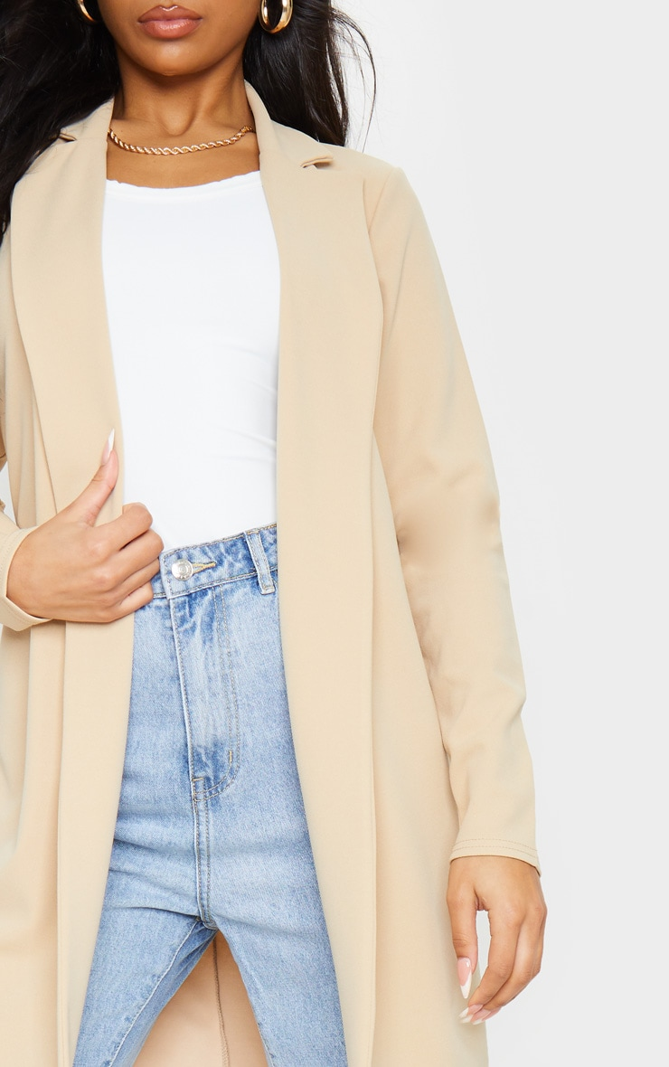 Stone Longline Collar Duster Jacket 4