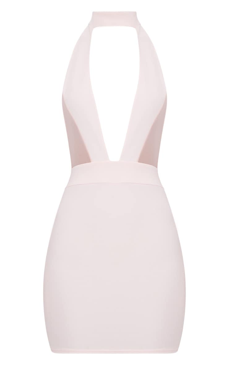Stone Choker Mesh Detail Bodycon Dress 3