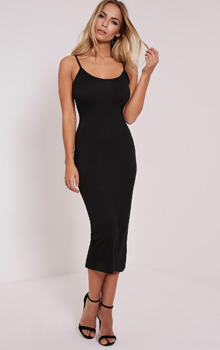 Basic Black Midi Vest Dress 4