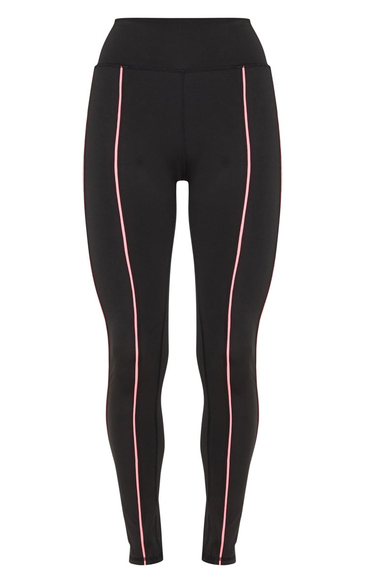 Black Contrast Piping Legging 3