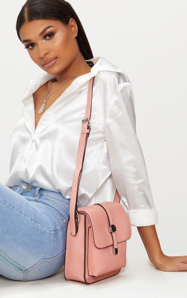 Light Pink Cross Body Strap Bag 2