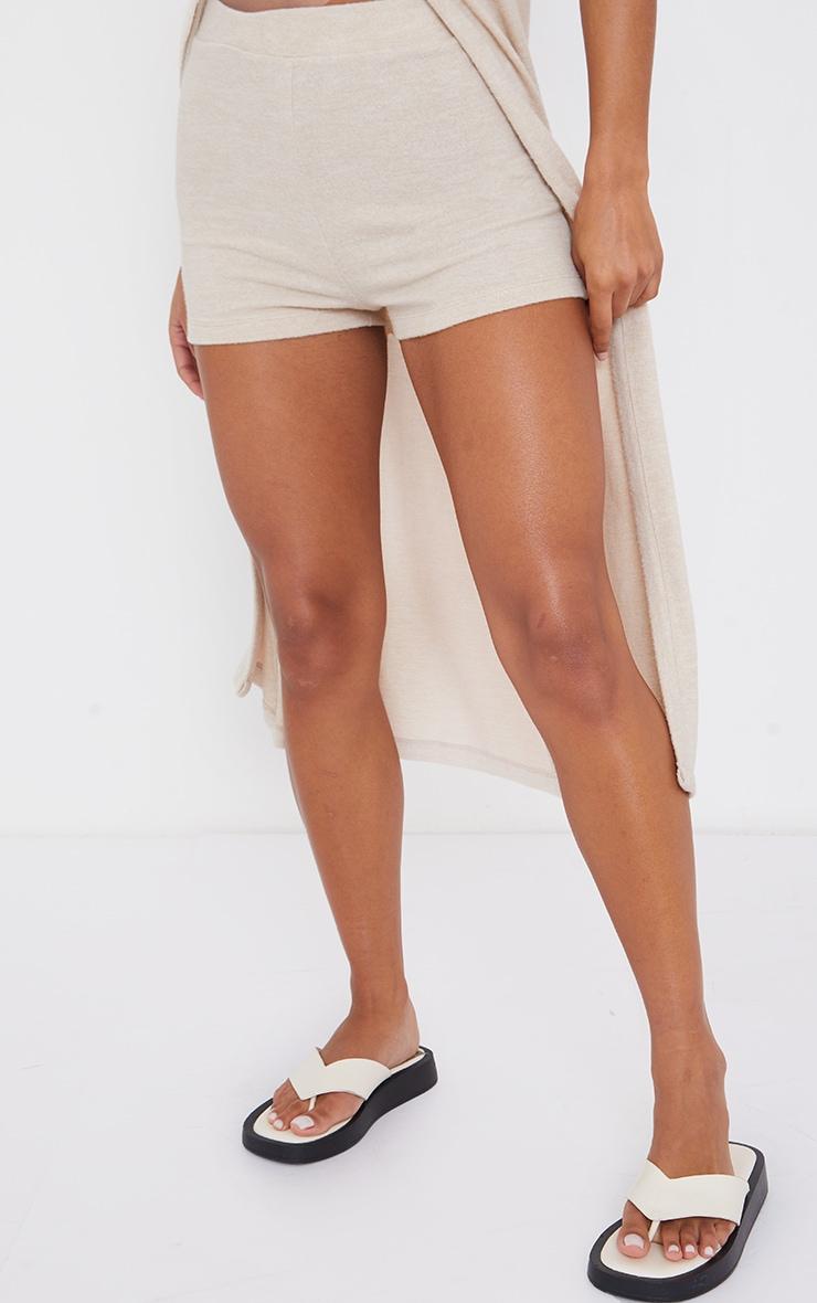 Beige Soft Touch Hot Pants 2