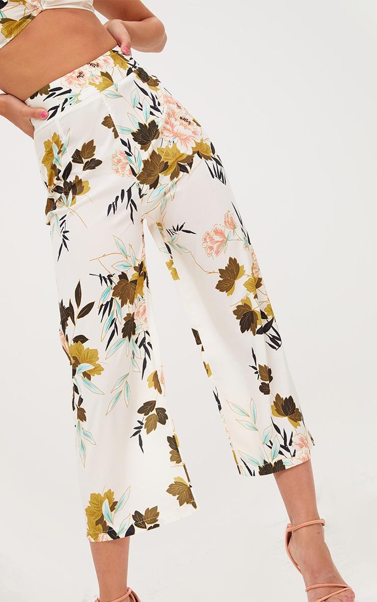 Cream Floral Kimono Culotte 5