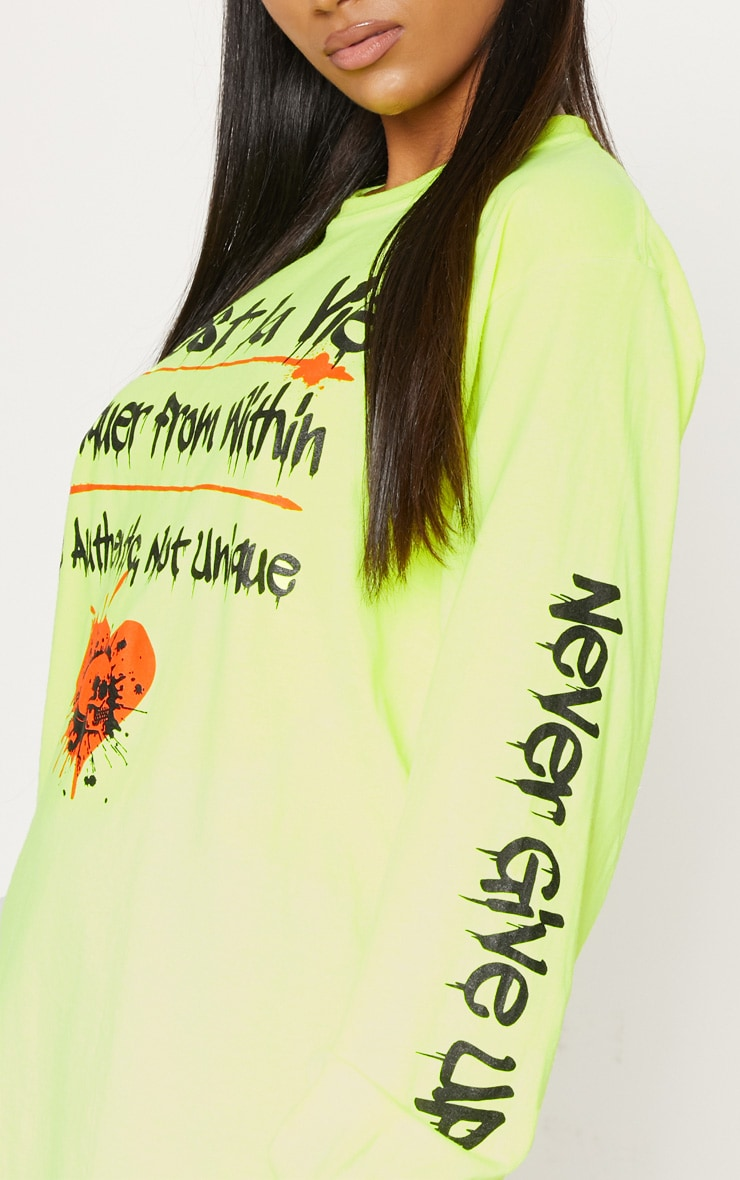 Yellow Cest La Vie Slogan Long Sleeve Top 5