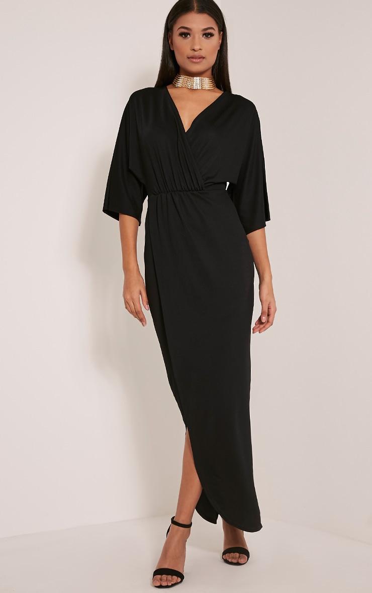 Archer robe maxi cape noire 4