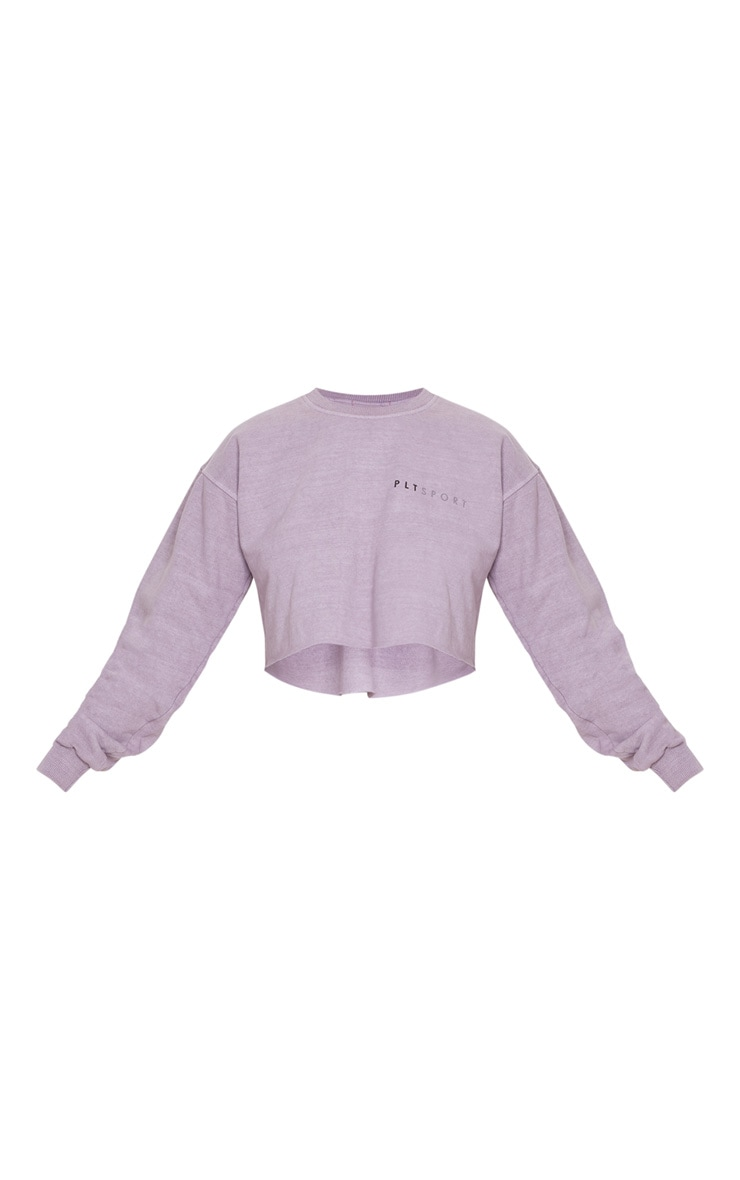 PRETTYLITTLETHING Mauve Cropped Sports Sweat 3