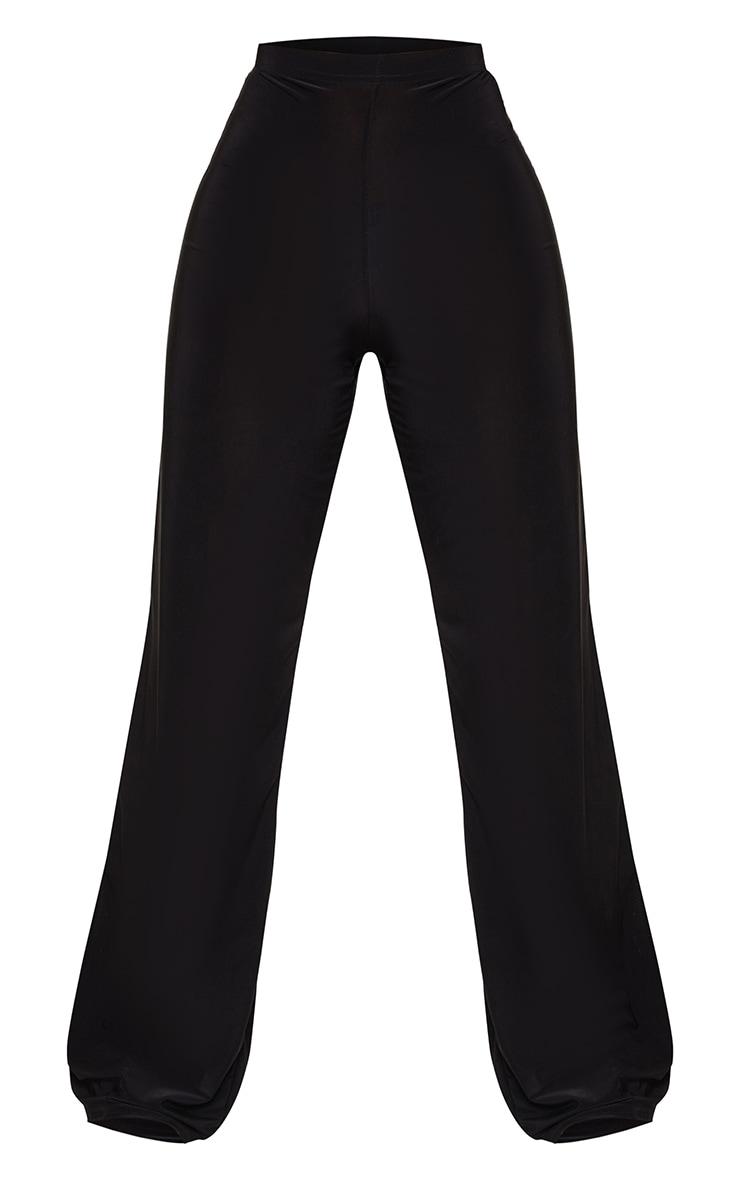 Petite Kyleigh Black Slinky Straight Leg Trouser 5