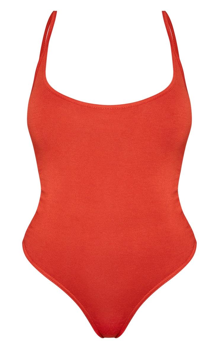 Shape Rust Jersey Strappy Bodysuit 3