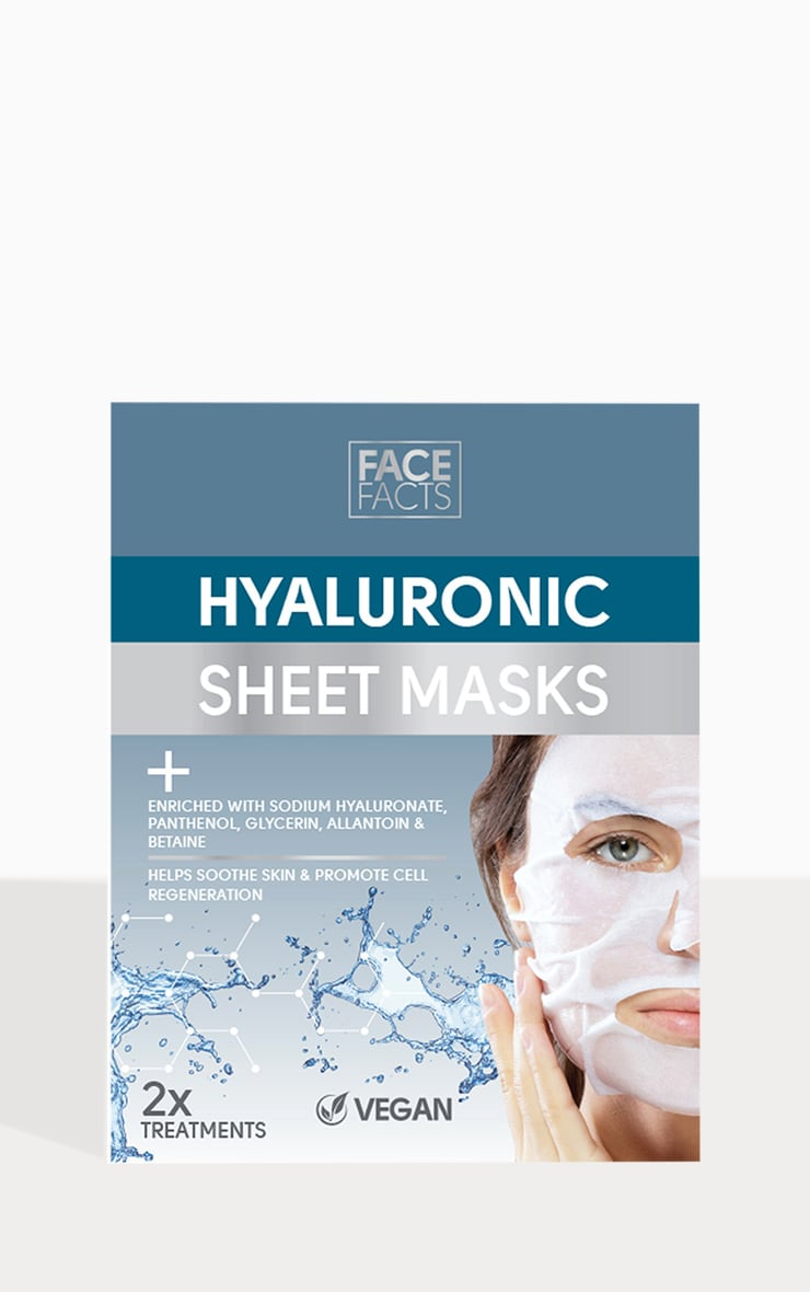 Face Facts Hyaluronic Sheet Mask 2 Pack 2