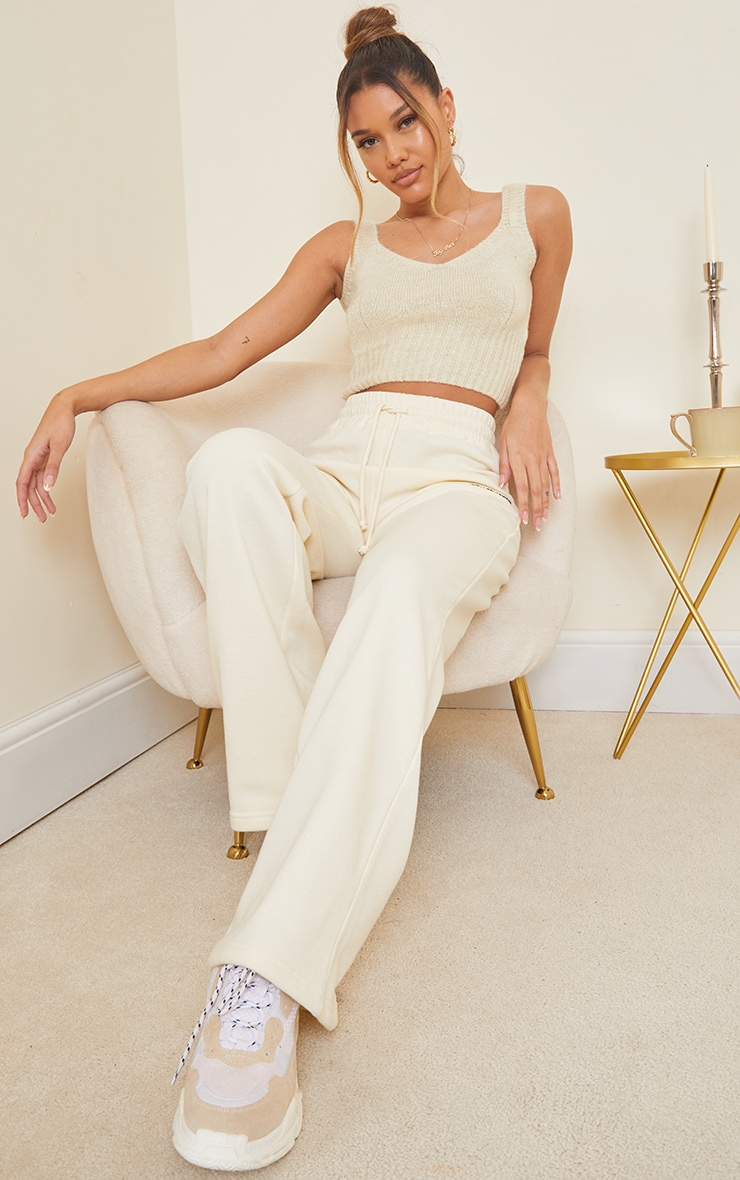 Cream Cosy Knitted Bralet 3
