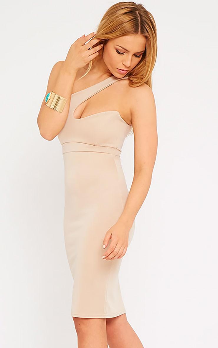 Sonia Camel One Shoulder Midi Dress 4