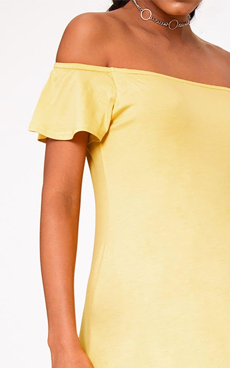 Yellow Jersey Bardot Swing Dress 5