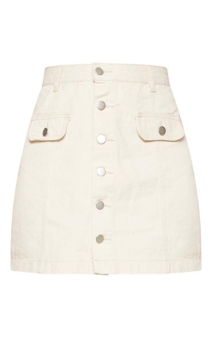 Ecru Pocket Detail Button Through Skirt 4