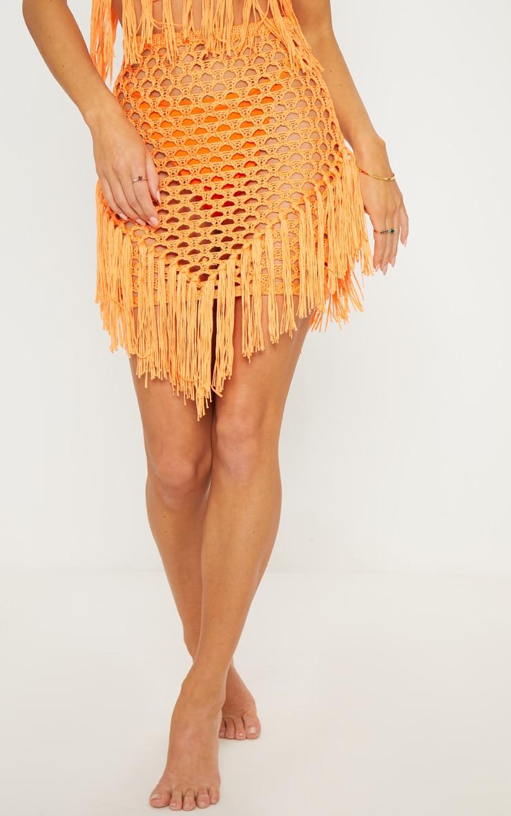 Orange Crochet Skirt 2