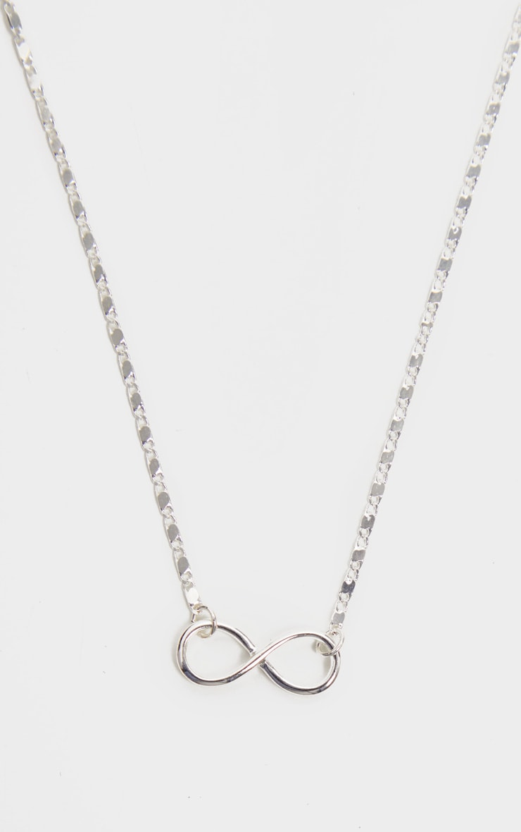 Silver Delicate Infinity Sign Necklace 3
