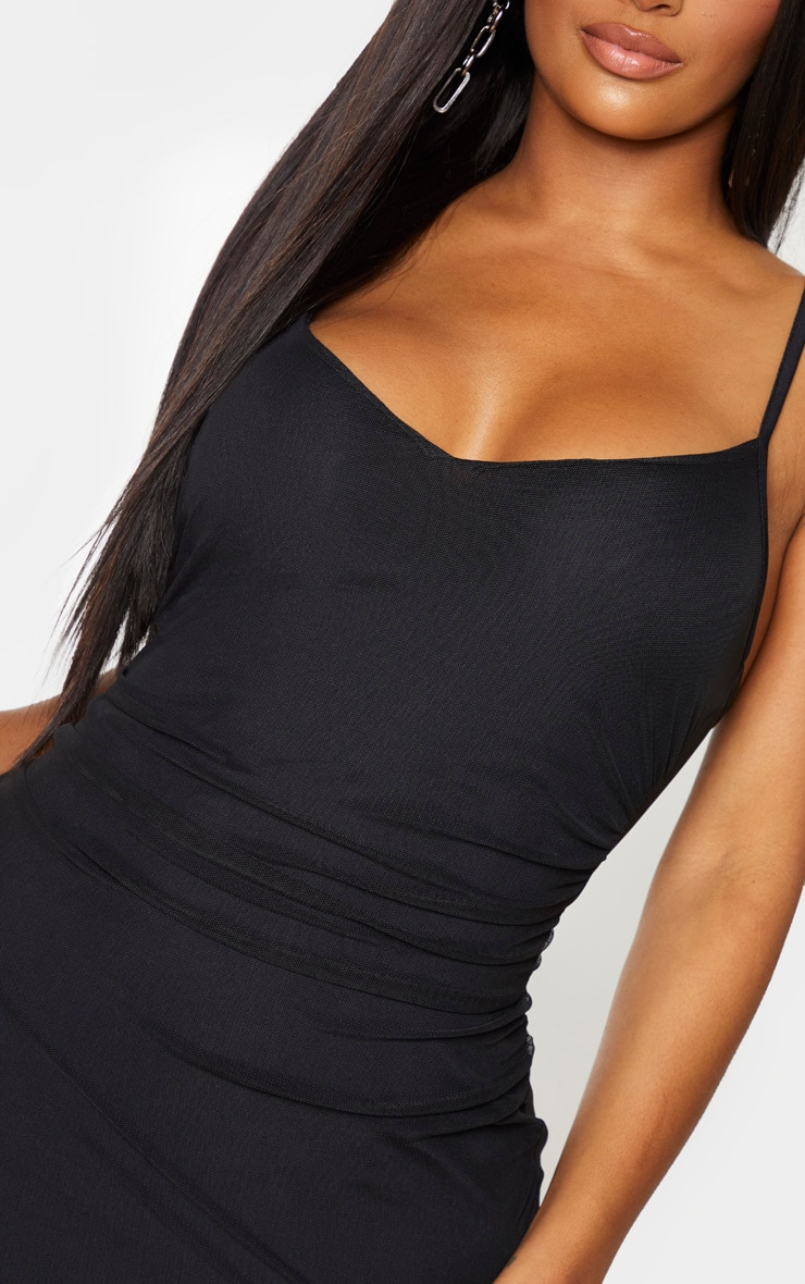 Shape Black Ruched Side Bodycon Dress 4