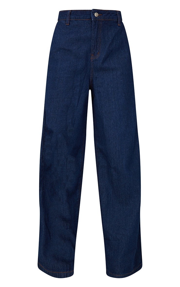 Indigo Wash Wide Leg Jeans 5