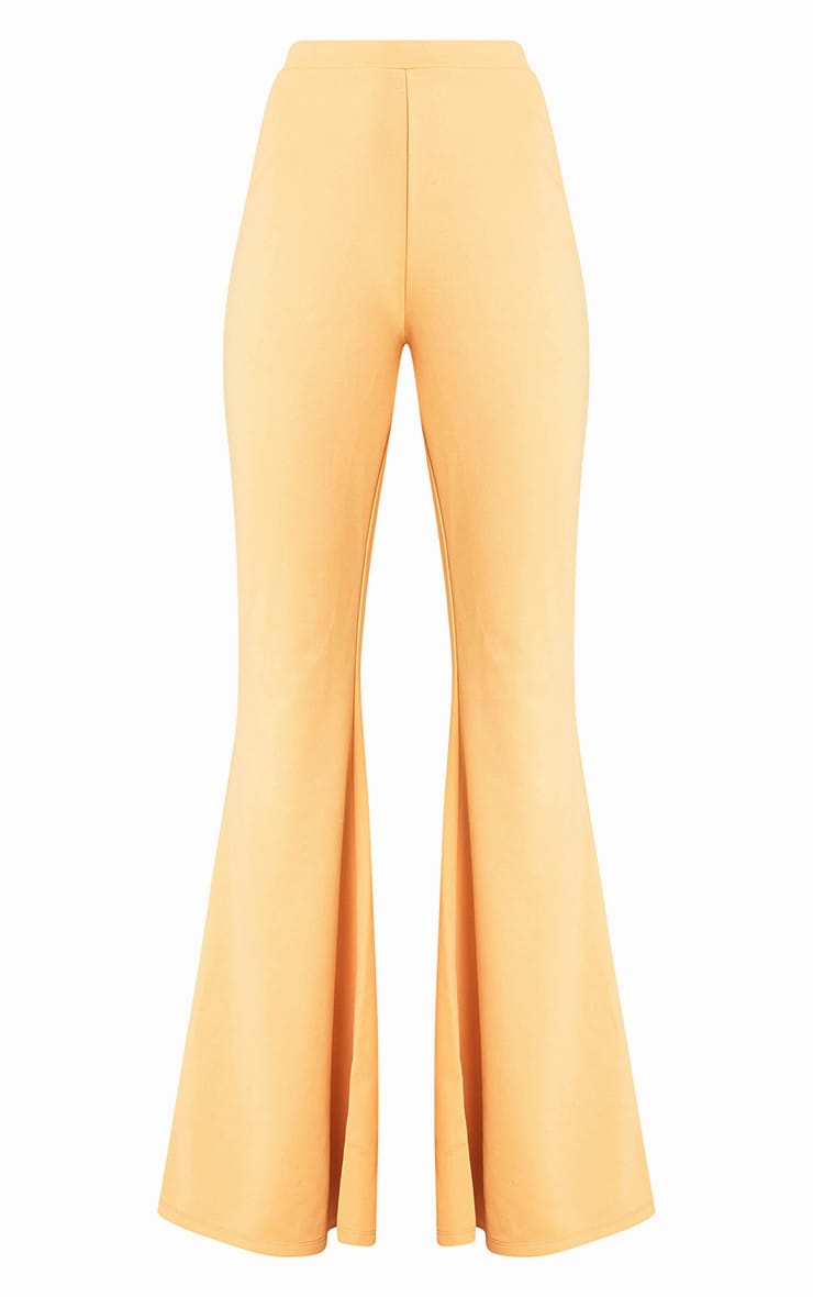 Light Gold Fitted Wide Leg Trousers  3