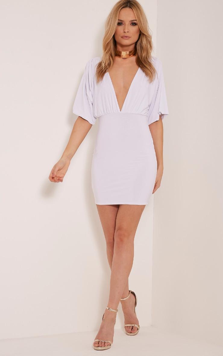 Eda White Kimono Sleeve Bodycon Dress 9