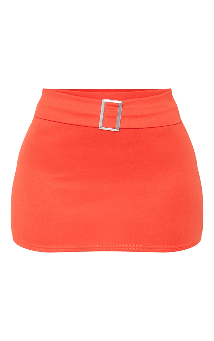 Tangerine Low Waist Belted Mini Skirt 6