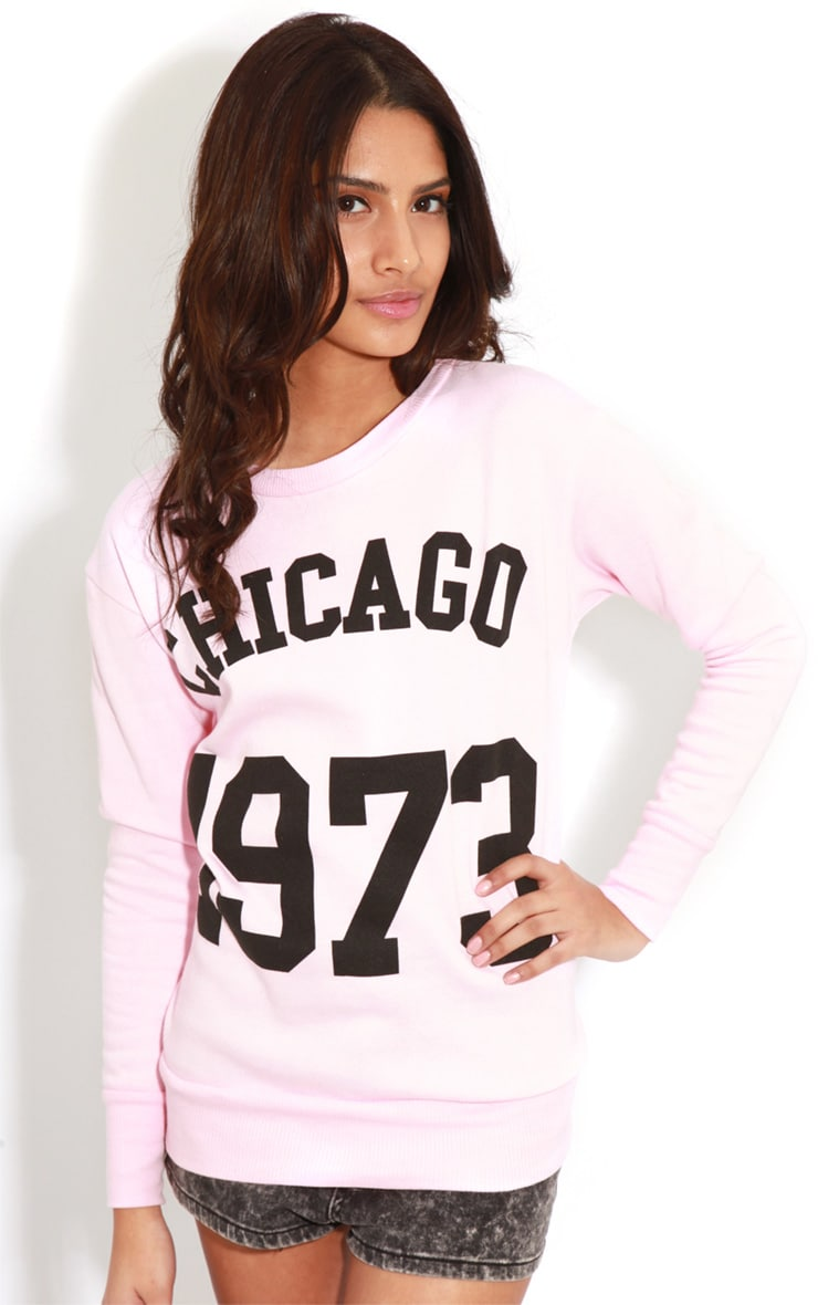 Riley Pink Chicago 1973 Sweater 4