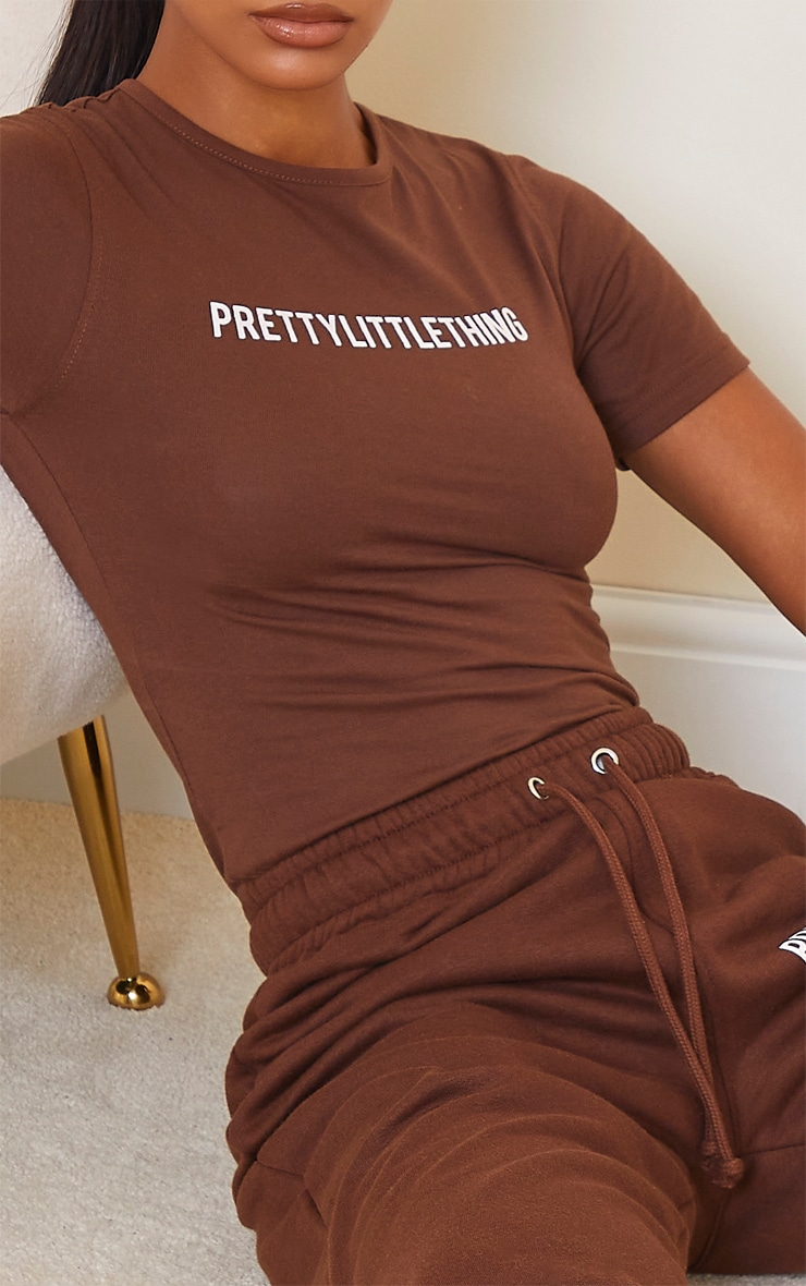 PRETTYLITTLETHING Chocolate Brown Short Sleeve Bodysuit 4