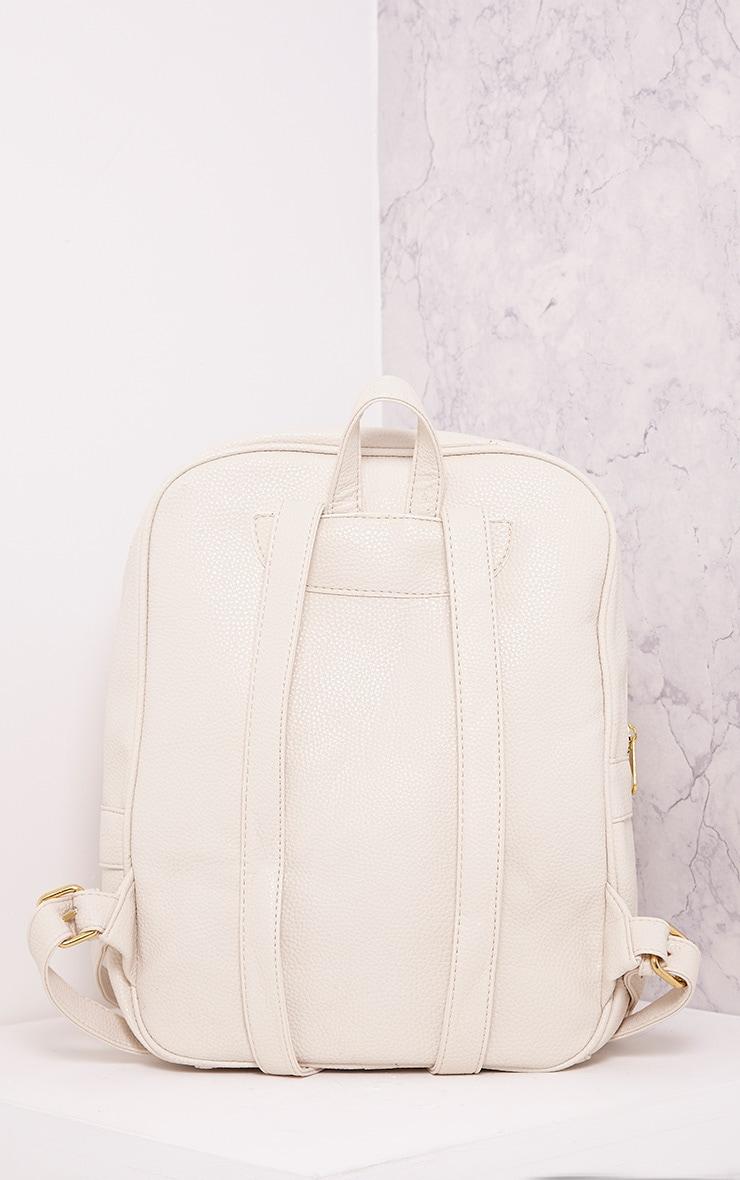 Yamkah Cream PU Backpack 4