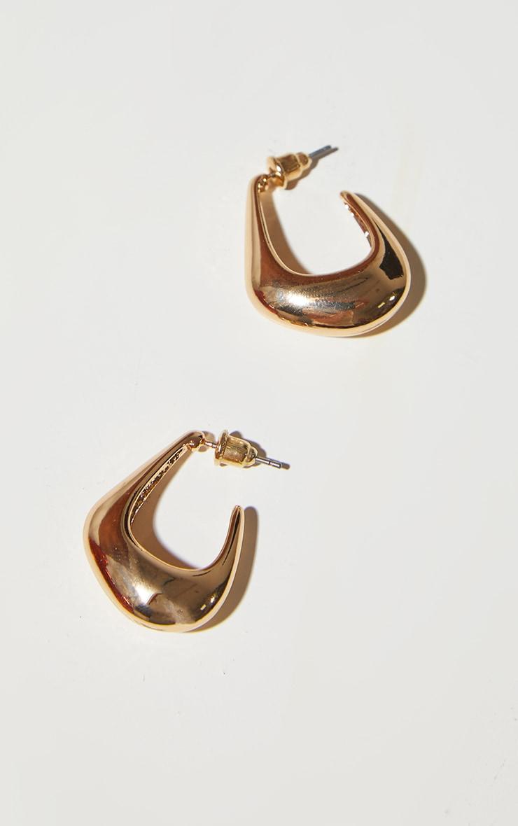 Gold Mini Oval Earrings 3