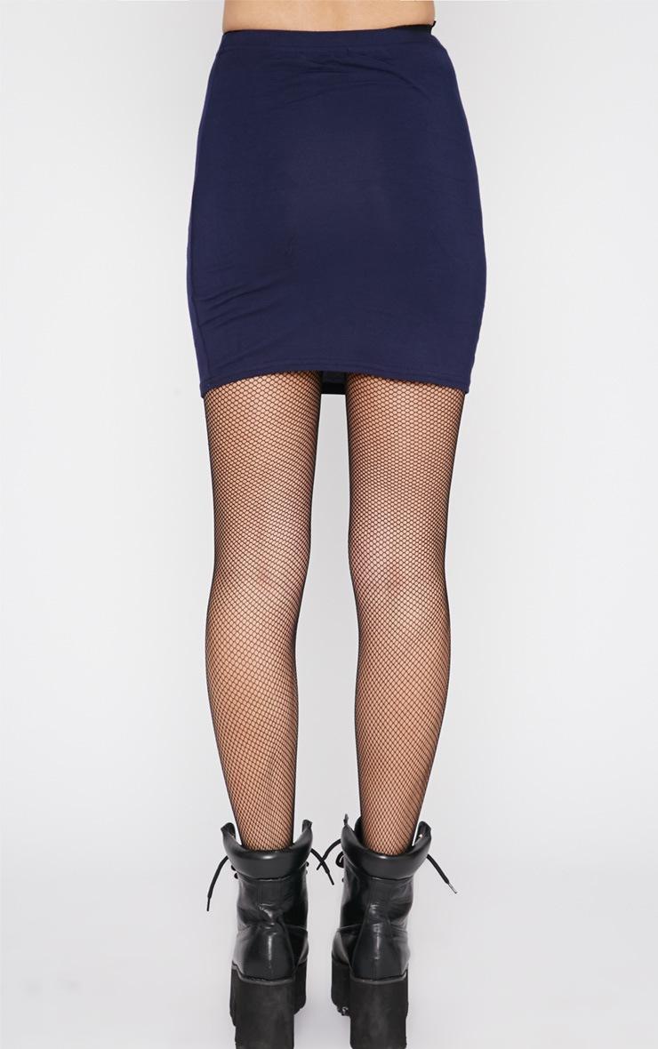 Margot Navy Jersey Mini Skirt 2