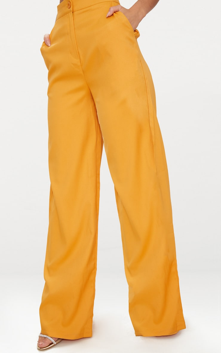 Mustard Wide Leg Suit Trouser  5