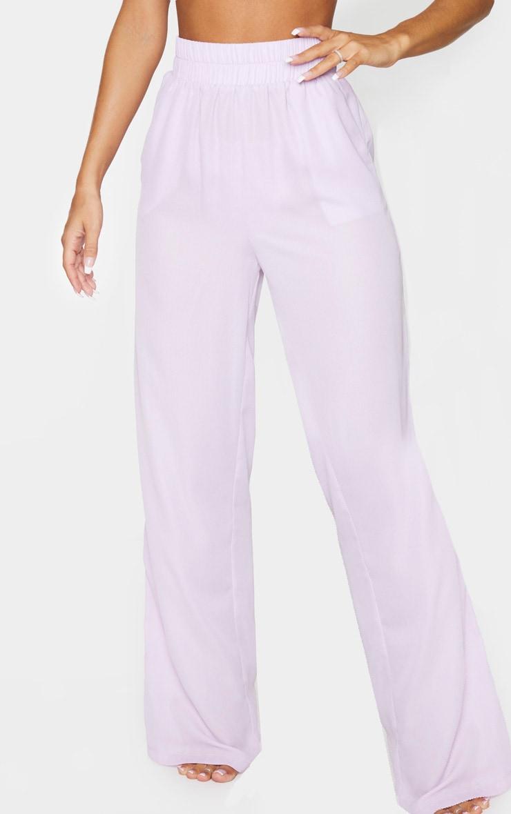 Lilac Wide Leg Beach Trouser 2