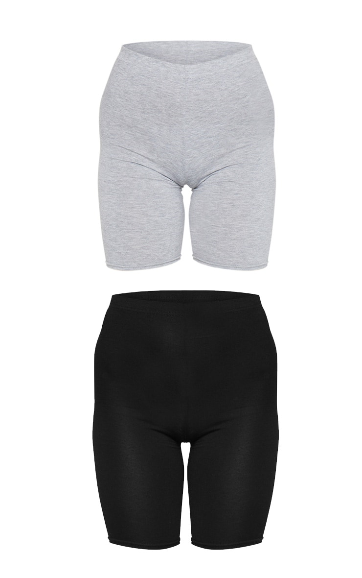 Black and Grey Basic Bike Short 2 Pack 6