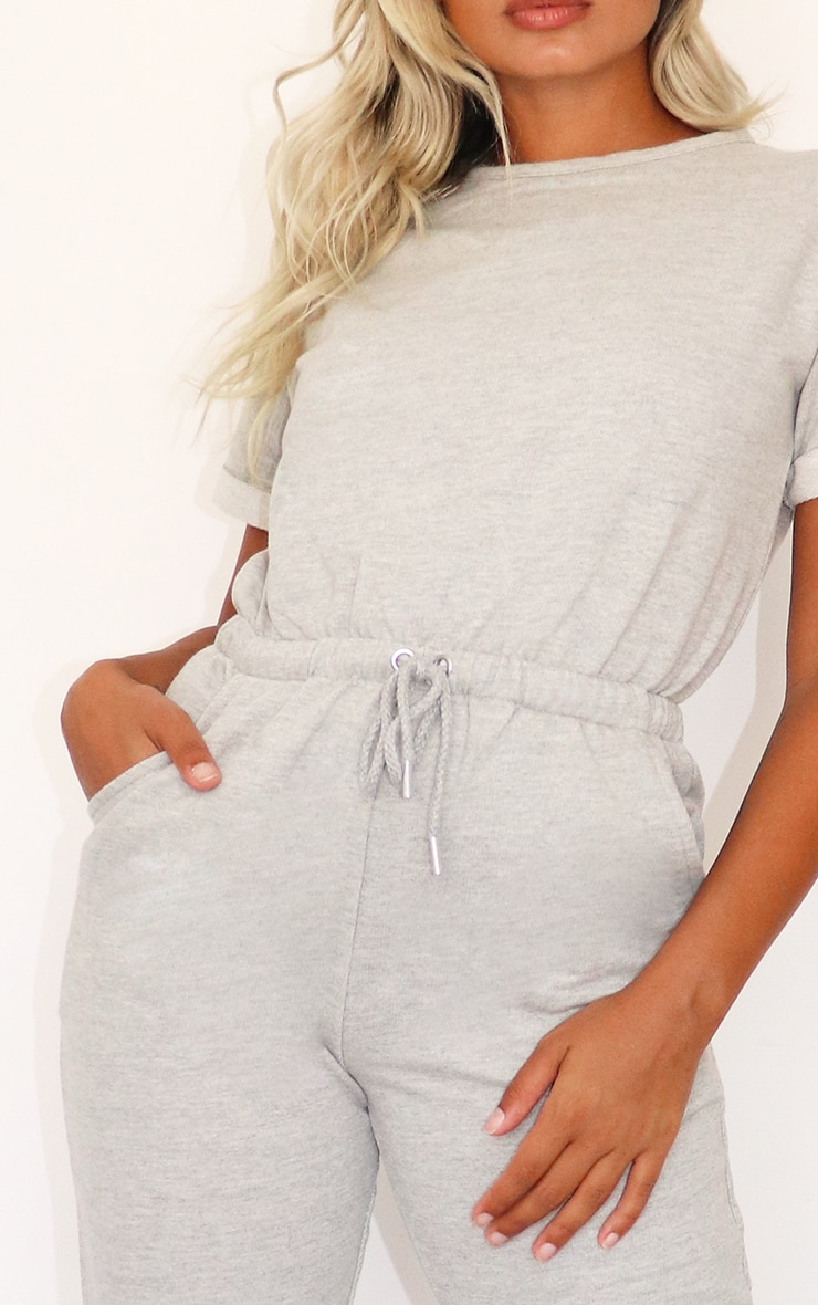 Petite Grey Sleeve Sweat Jumpsuit 3