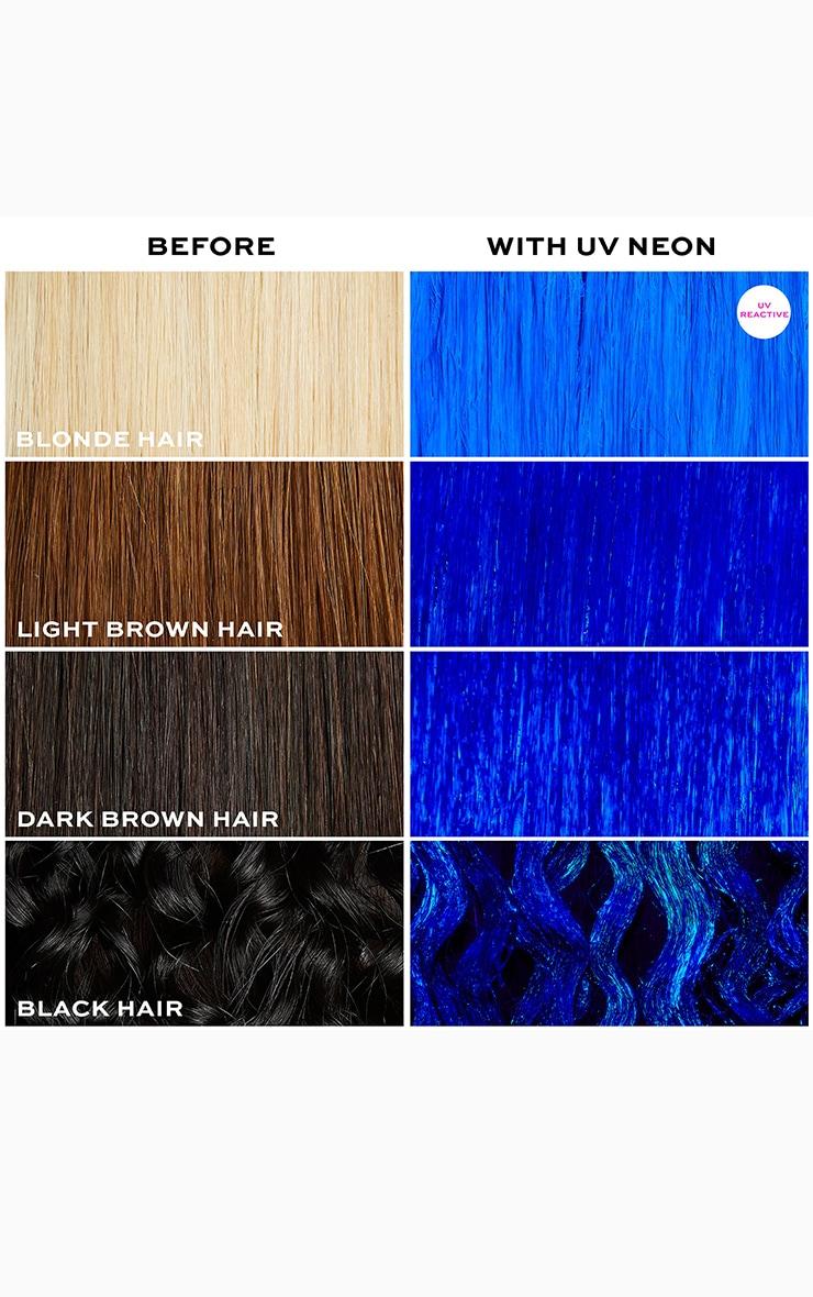 I Heart Revolution UV Neon Blue Hair Make Up 4