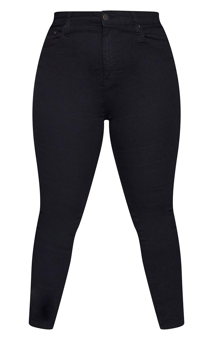 Plus Black High Waisted Skinny Jean 5