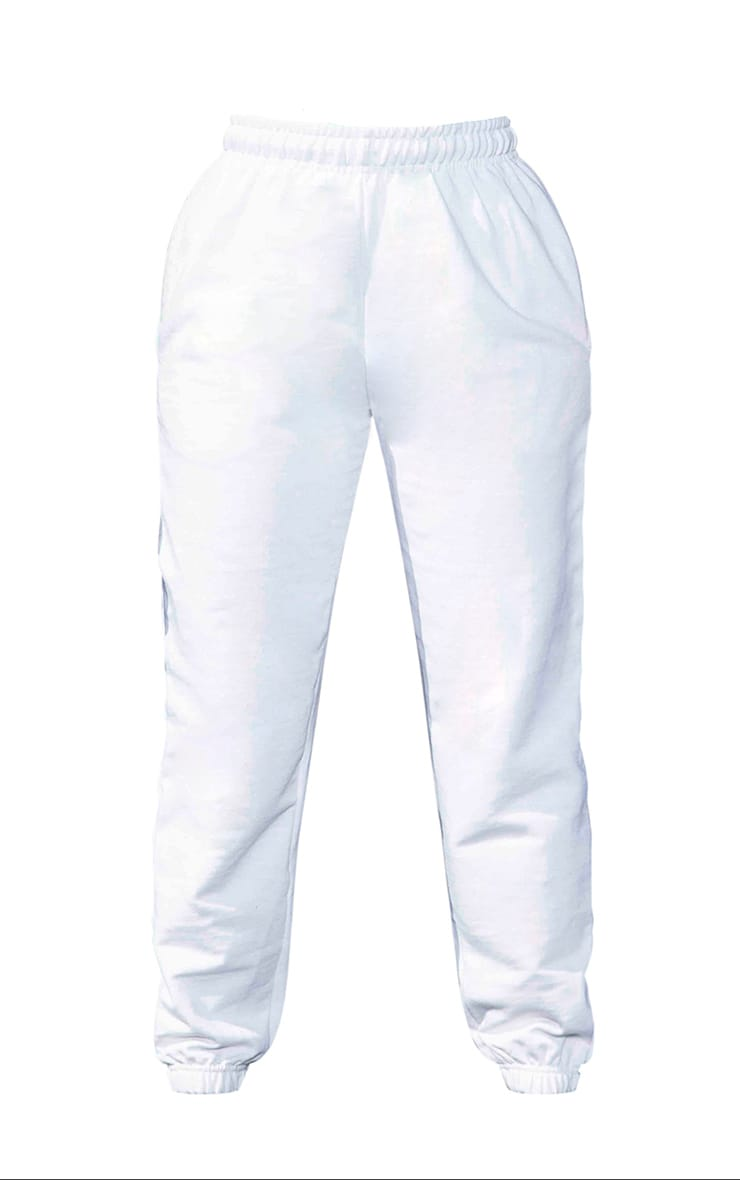 Plus White Casual Jogger  5