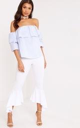 a07e33446313c9 Kaarina Blue Stripe Bardot Shirt 4