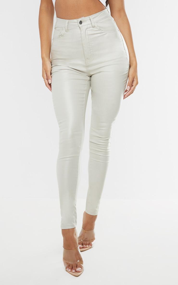 Stone Hourglass Coated Skinny Jeans 2