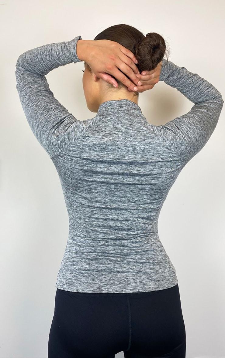 Grey Half Zip Gym Top 2