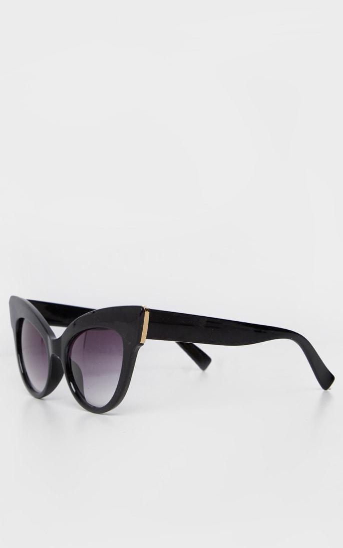Black Extreme Cat Eye Retro Sunglasses 3