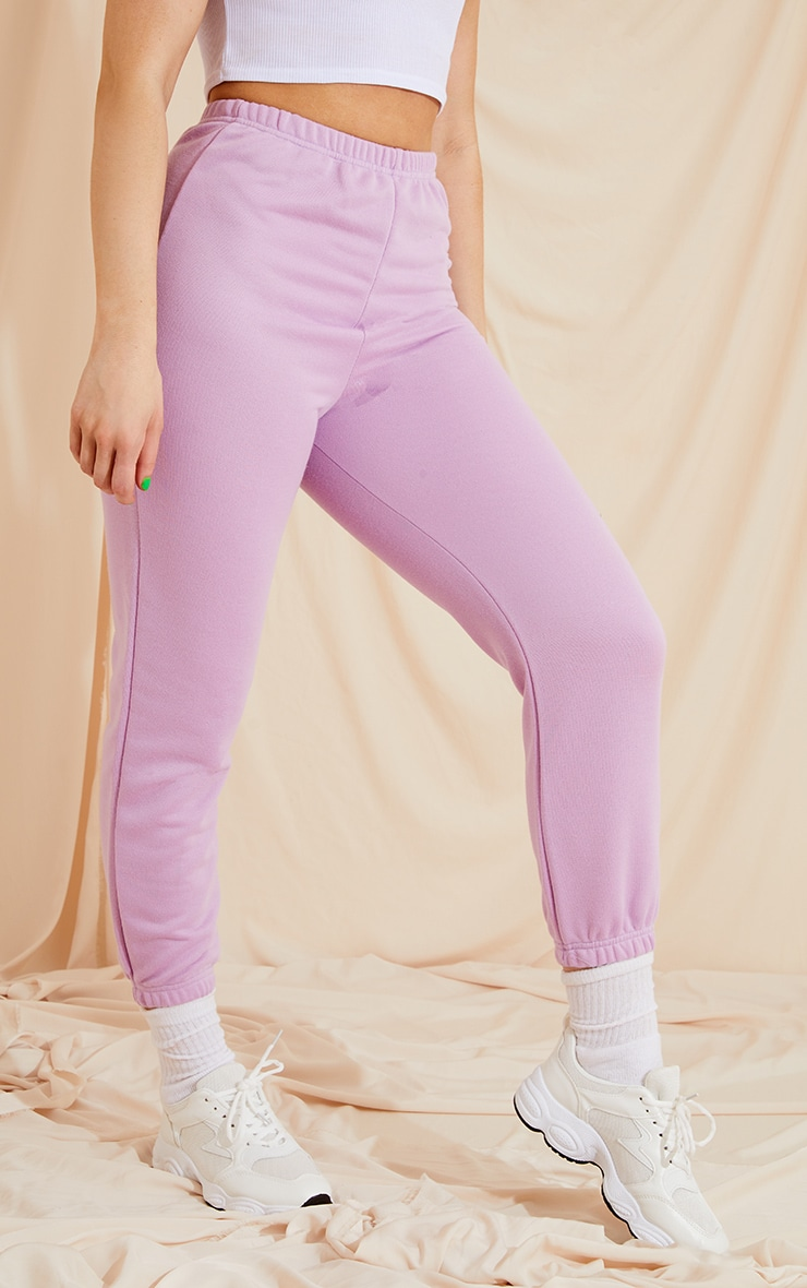 Lilac Basic Slim Fit Joggers 2