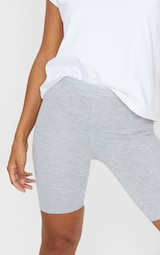 Black and Grey Basic Jersey 2 Pack Cycle Shorts 5