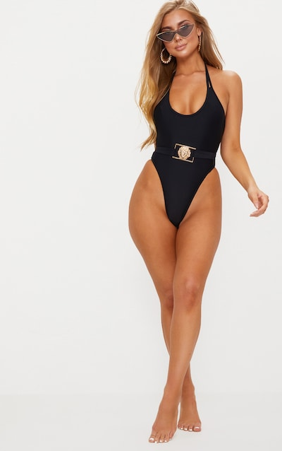 bb26f5b6b5 Black Lion Belted Swimsuit