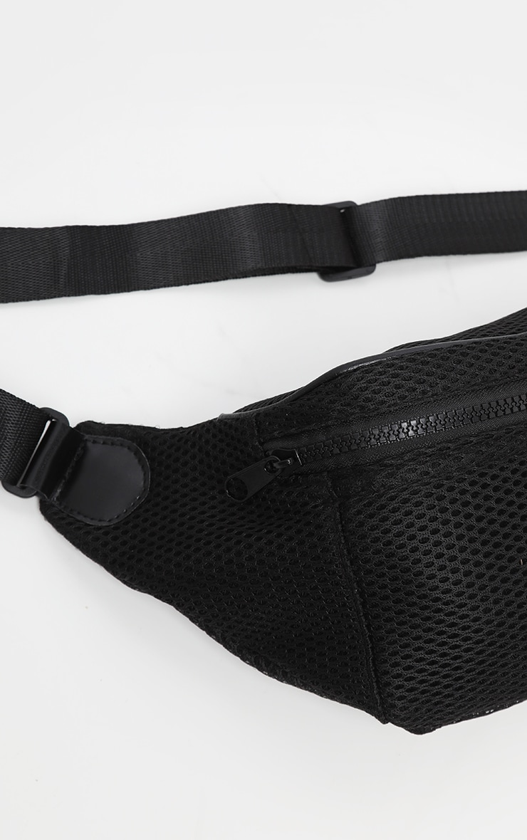 Black Mesh Zip Bum Bag 3