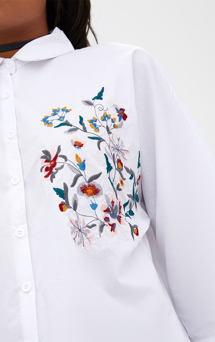 Callie White Embroidered Shirt 5